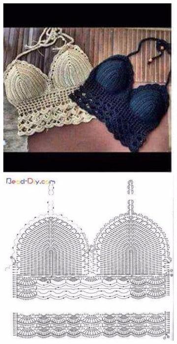 tops tejidos a crochet patrones paso a paso