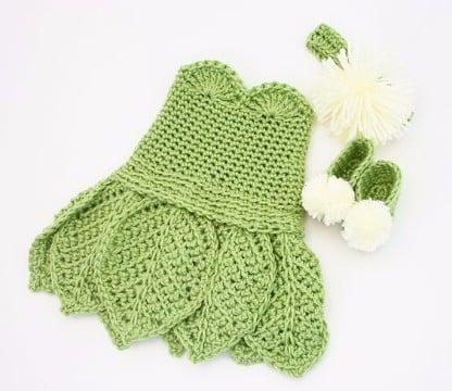 trajes de crochet para bebes vestidos