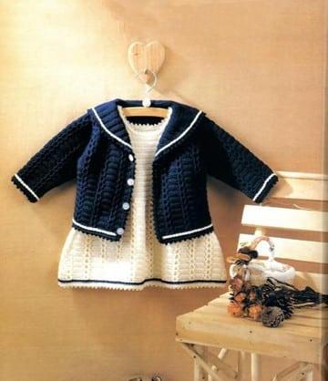 vestidos para bebes tejidos a crochet de 0 a 3 meses