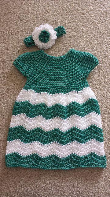 vestidos para bebes tejidos a crochet ganchillo