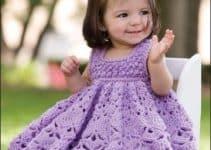 Algunas ideas de vestidos para bebes tejidos a crochet