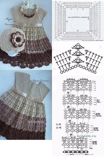 vestidos para bebes tejidos a crochet patrones