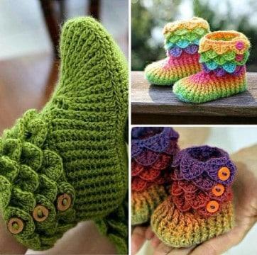 zapatitos a crochet patrones como hacer