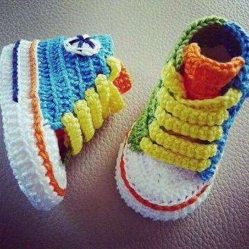 Varias ideas de zapatitos a crochet patrones para bebe | Tejidos a ...