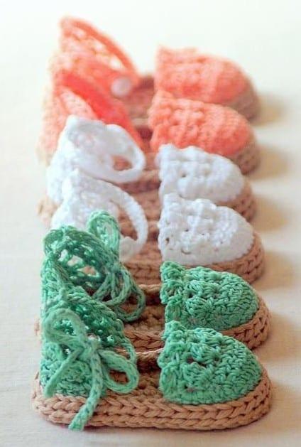 zapatitos para nina tejidos a crochet bebe 0 a 3 meses