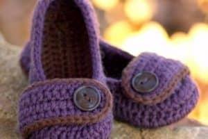 Zapatitos para nina tejidos a crochet paso a paso