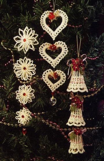 adornos navideños faciles de hacer y economicos Adornos Navideos Tejidos A Crochet Fciles Y Econmicos