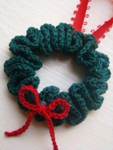 adornos navideños tejidos  crochet corona