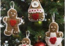 Adornos navideños tejidos a crochet fáciles y económicos