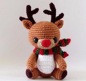 adornos tejidos a crochet para navidad