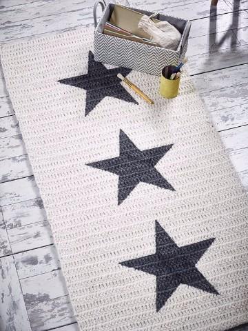 alfombra de trapillo rectangular ganchillo