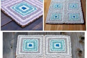 Como hacer alfombra de trapillo rectangular patrones