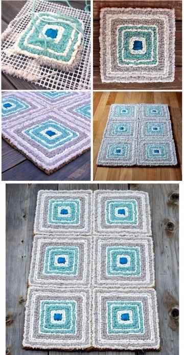 alfombra de trapillo rectangular paso a paso