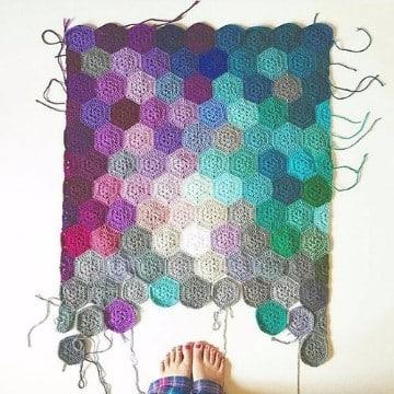 alfombra de trapillo rectangular patrón