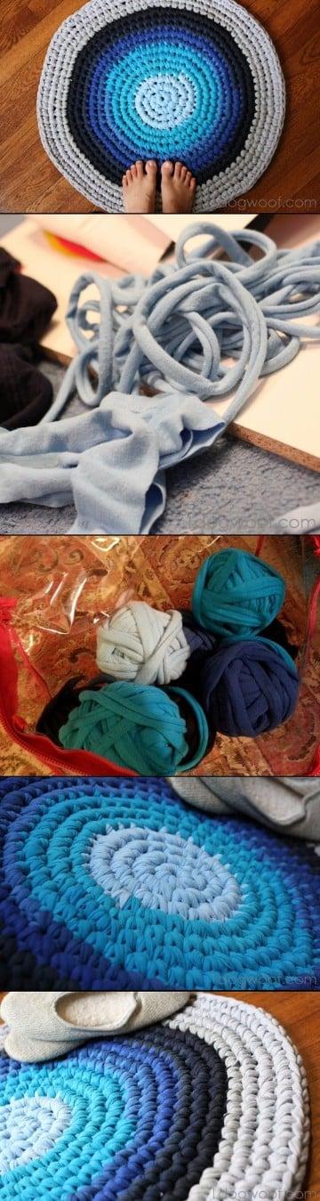 alfombras de trapillo ovaladas faciles