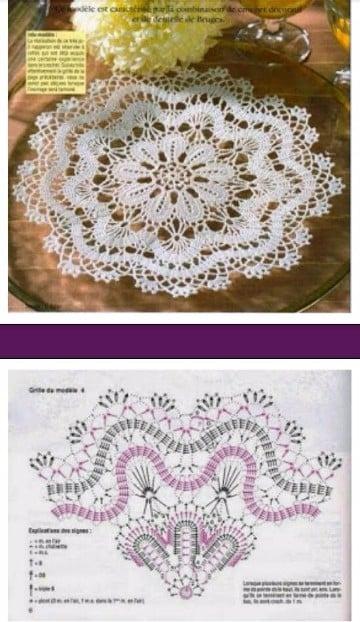 carpetas tejidas al crochet con patrones