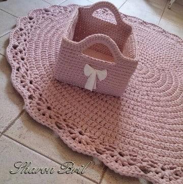 carpetas tejida al crochet ovaladas