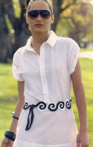 cinturones tejidos a crochet como hacer