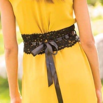 cinturones tejidos a crochet modelo