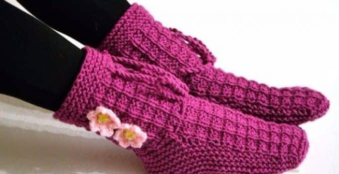 Tejidos a crochet paso a paso part 22 - Como hacer calcetines de lana ...