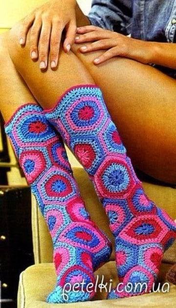 como hacer calcetines de lana para adultos