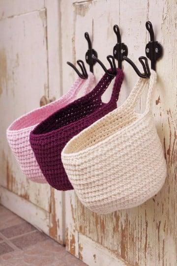 como hacer cestas de trapillo faciles