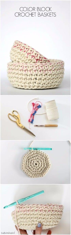 como hacer cestas de trapillo paso a paso