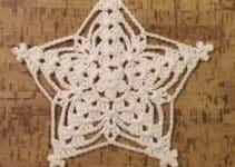 Como hacer una estrella de 5 puntas a crochet pasos fáciles