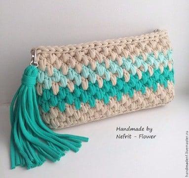 Monederos Tejidos A Crochet Monedero Tejido A Crochet Con Perlas - Monederos-ganchillo