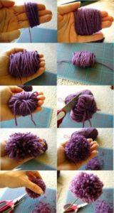 como hacer pompones de lana paso a paso para decorar