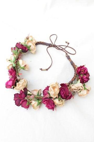 como hacer vinchas con flores de tela