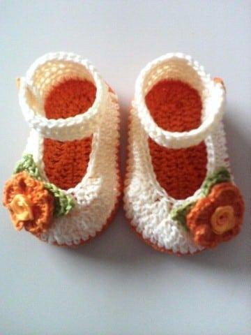 cómo tejer zapatitos a crochet para bebe