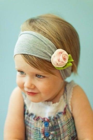 diadema de flores para bebes de moda
