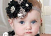 Hermosos diseños de diademas de flores para bebes faciles