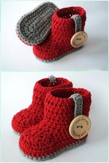 Unisex Baby Booties Free Crochet Pattern : Escarpines tejidos a crochet maneras faciles de hacerlos ...