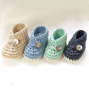 escarpines tejidos a crochet para niñas
