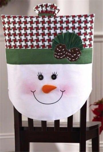 Como hacer fundas de sillas navideñas económicas y fáciles