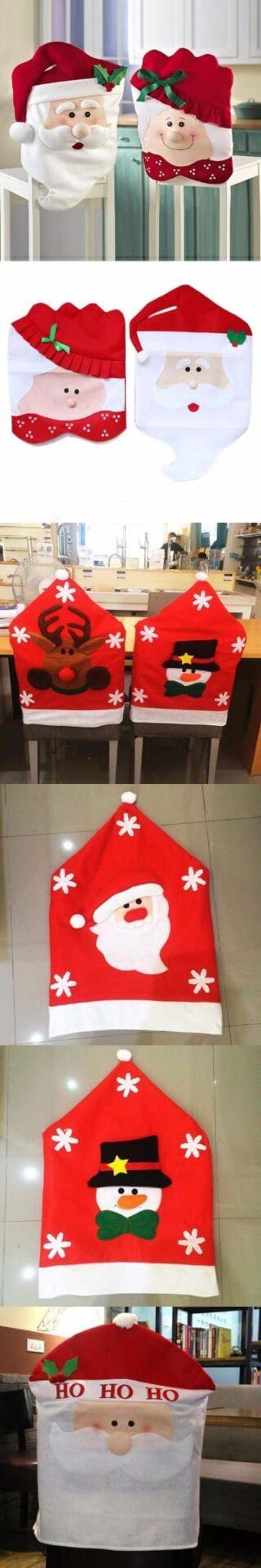 fundas de sillas navideñas paso a paso