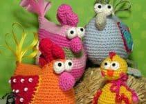 Como hacer una gallina tejida a crochet paso a paso