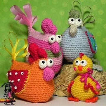 gallina tejida a crochet paso a paso para cocina