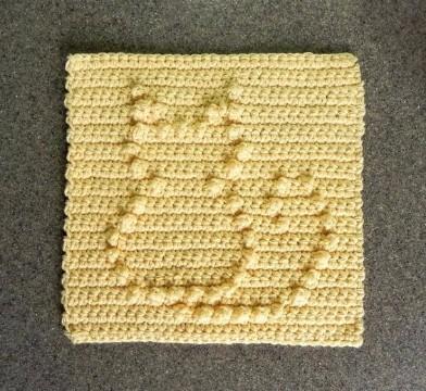 individuales en crochet cuadrados