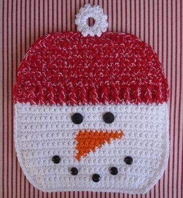 individuales en crochet navideños