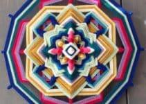 Como hacer mandalas tejidos al crochet para decoraciones