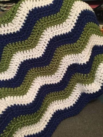 mantas de ganchillo de lana paso a paso