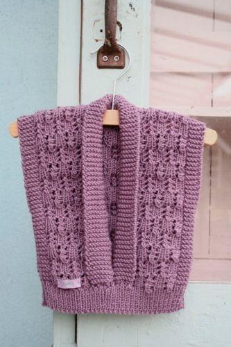 modelos de chalecos tejidos a dos agujas bebes