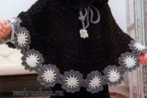 Modelos de ponchos tejidos a crochet con dos agujas para dama