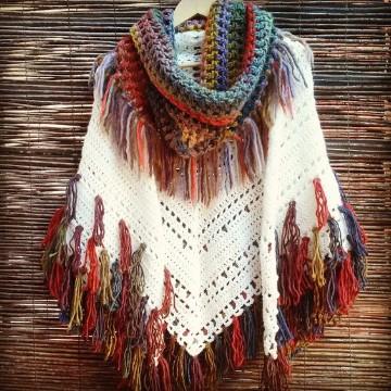 modelos de ponchos tejidos  crochet patrones