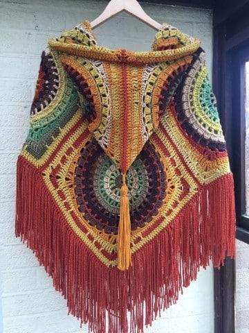 ponchos tejidos a gancho como hacer