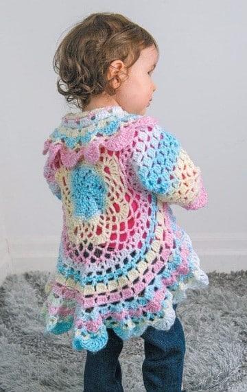 ponchos tejidos a gancho para niña