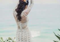 Espectaculares vestidos de novia tejidos a crochet